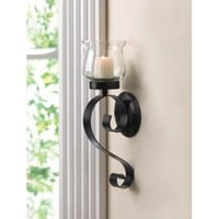 Lasting Impression Fluted Glass Candle Cup Wall Sconce