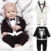 Gentleman Baby Boys Toddler Suit Romper