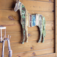 Wooden Horse Wall Art