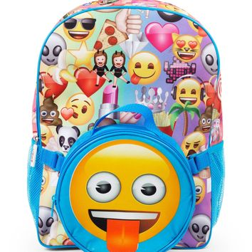 "Emoji Emojitastic! 16"" Backpack with LunchEmoji Emojitastic! 16"" Backpack with Lunch"