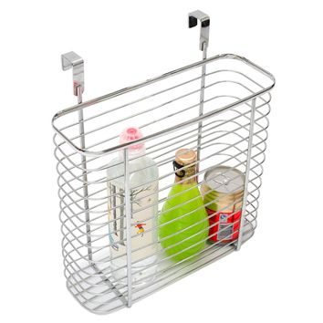 "Chrome Steel Shower caddy, Bathroom Over the Door Shower basket holder for Shampoo,Conditioner,Soap Organizer by LivingAid-11.0""L X 5.3""W X 12.4""(Sliver)"