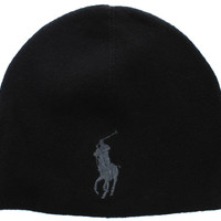 Ralph Lauren Polo Men's Unisex Big Pony Merino Wool Beanie