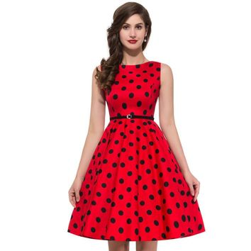 Women Summer Style Inspired Vintage clothing Retro 50s Big Swing audrey hepburn Pinup Polka Dot plus size Woman Dresses vestidos