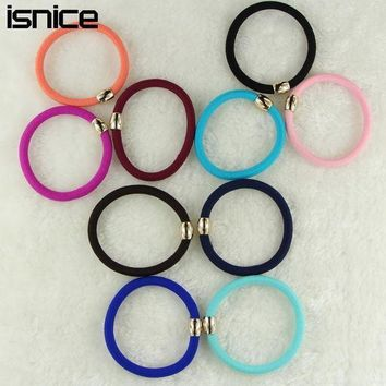 PEAPGC3 isnice 10pcs/lot Ball Elastic Rubber Bands Girl Candy Color Headwear Women Hair Accessories Colorful Bold Rubber bands Ornaments