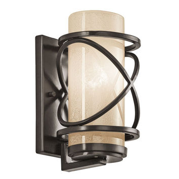 Kichler 49356AZ Trafari Architectural Bronze One Light Small Outdoor Wall Lantern