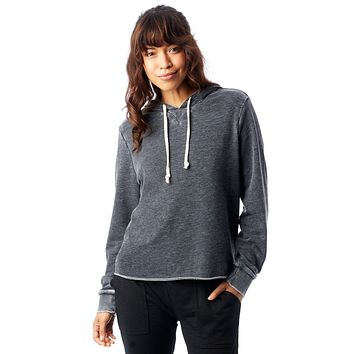 Alternative Apparel - Day Off Burnout French Terry Washed Black Hoodie