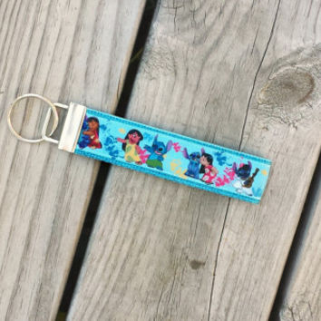 Disney Inspired Lilo & Stitch Keychain, Key Fob, Accessories, Key Holder
