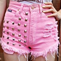 Pink Berry Cutoff Shorts from ShopWunderlust