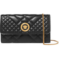 Versace - Quilted leather shoulder bag