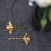 Gold Bumblebee Hair Slides