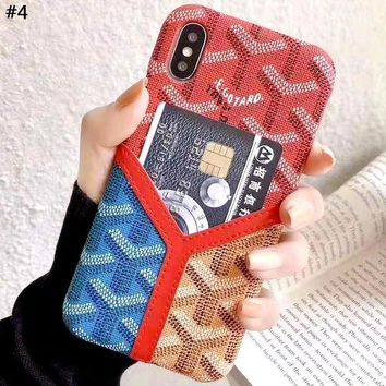 Goyard Tide brand color matching iphone xs max phone case