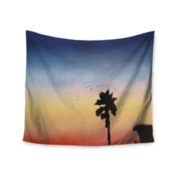 "Infinite Spray Art ""Carlsbad Sunset"" Coastal Painting Wall Tapestry"