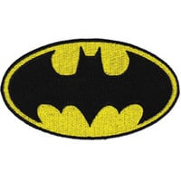 Batman Logo Large Embroidered Iron-On Patch