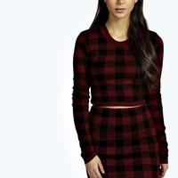 Nicki Knitted Crop And Mini Skirt Co-Ord Set