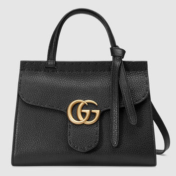Gucci GG Marmont leather top handle mini bag