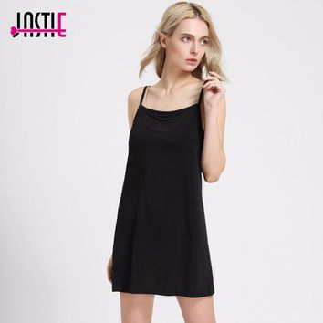 Jastie Summer Style Lining Dress Suspenders Elastic Base Vestidos Lined Boho People Style Under Dresses Beach Dress 8079