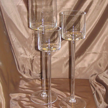 Best glass candle holder centerpieces products on wanelo for Tall candle centerpieces