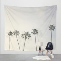 Double Exposure Palms 1 Wall Tapestry by CMcDonald | Society6