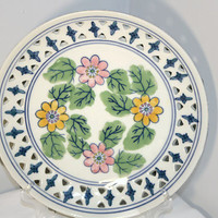 Hand Painted Decorative Porcelain Plate, Wall Mounted Home Decor