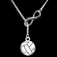 Volleyball Infinity Sports Gift Mom Daughter Lariat Necklace