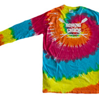 "Crew Tie Dye Long Sleeve ""Rowing Chick"" Logo"