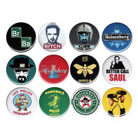 Breaking Bad Pack Of 12 Buttons Set