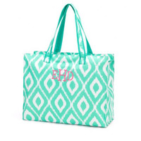 Mint Monogrammed Beach Bag or Tote