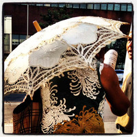 "Harlem Parasol - New York City - photograph - fine art photograph - bold color - New York, NY - 10"" x 10"""