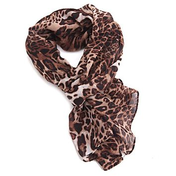 HDE Women's Animal Print Jersey Fashion Scarf (Style #4)