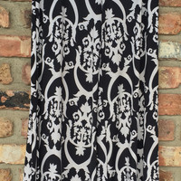 Black & White Damask Palazzo Pants*final sale!*