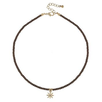 North Star Glass Bead Necklace
