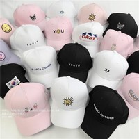 summer caps style lady korean pink Dad Hat white polo caps 2017 girls golf sport baseb