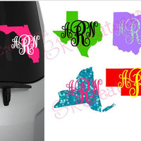 Car Decal, Glitter or Regular - Home State Love
