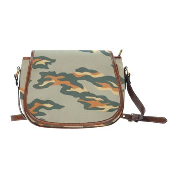 Women Shoulder Bag Classic Camouflage Saddle Bag Large