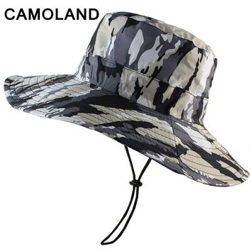Waterproof Camouflage Boonie Hat Military Bucket Hunting Fishing Men Women Panama Outdoor Sports Sun Hat Summer Army Lightweight