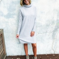 Marissa Sweater Dress - Gray