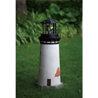 Compass Home Solar Outdoor White LED Lighthouse Path Light