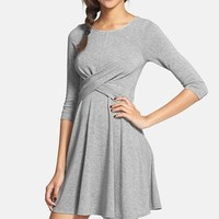 Everly Cross Detail Skater Dress (Juniors)