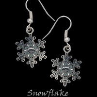 Cloisonne Snowflake Earrings by Frederick Design