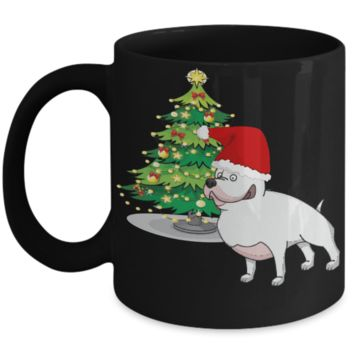 XMas Pit Mug - Christmas 2016 Gift - Fun Black Holiday Pitbull Gift Cup For Dog Lovers for X-Mas