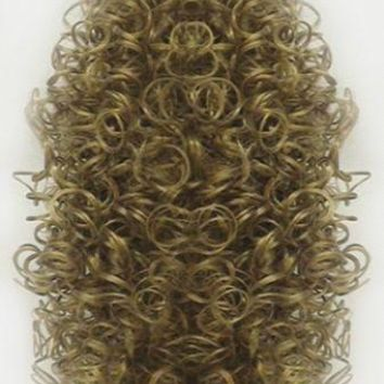 """16"""" LONG SPIRAL CURLS CURLY HAIR PONYTAIL HAIRPIECE BANANA CLIP EXTENSIONS ERICA"""