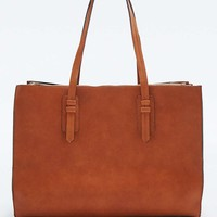 Structured Tan Tote Bag - Urban Outfitters