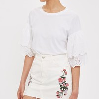 MOTO Floral Embroidered Skirt - FOLK - We Love