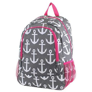 MM Anchor Monogram Backpack | Personalized Backpack | Monogram Bookbag | Boys Backpack | Pink Backpack | Kids Backpack | School Backpack
