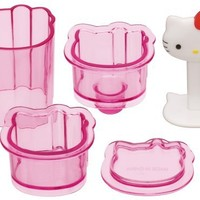 1 X Sanrio Hello Kitty Mini Rice Ball Musubi Mold Sushi Press #3376