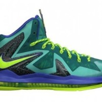 Nike Lebron X P.S. Elite Mens Basketball Shoes 579827-300 Sport Turquoise 10.5 M US