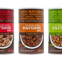 Earnest Eats Hot & Fit Cereal Canister 3-Pack - Vegan Cuts