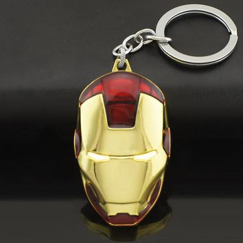 Marvel  Iron Man Mask Metal  Keychain