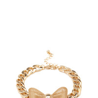 Chained Bow Bracelet