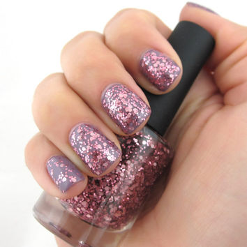 It's A Girl  pastel and rose pink glitters by ILoveNP on Etsy
